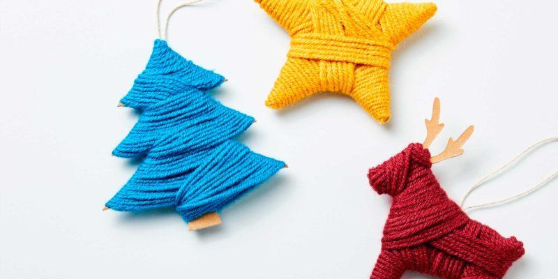 decoraciones navideñas diy con lana y cricut maker