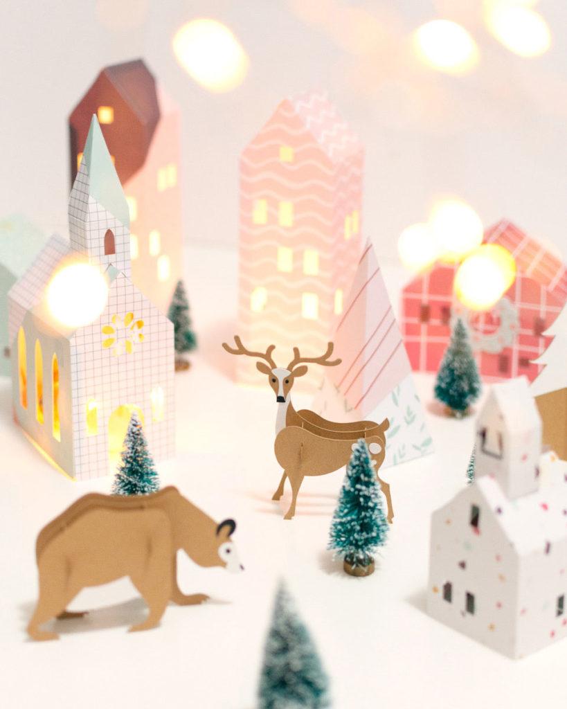 Haz un poblado navideño con cartulina y tu Cricut Maker