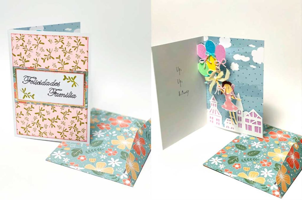 tarjeta pop up hecha con cricut maker