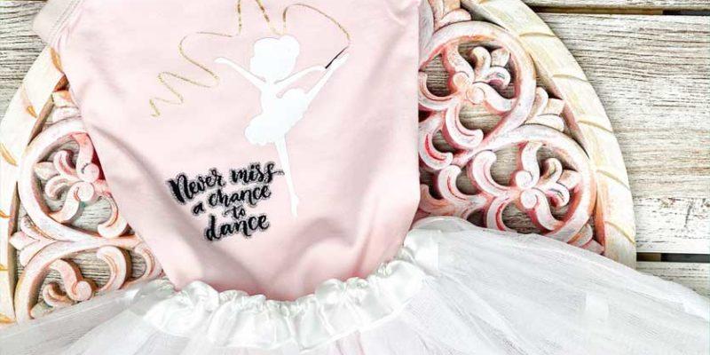 mallot de ballet personalizado con Cricut