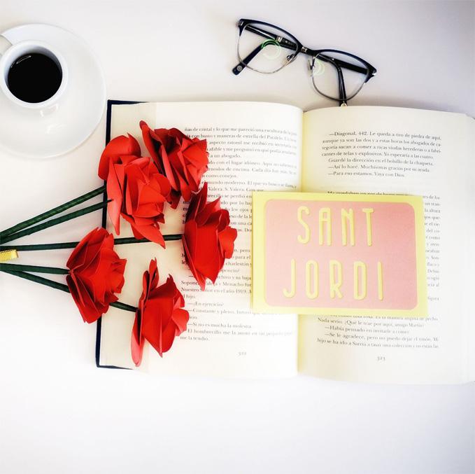 rosas papel sant jordi cricut